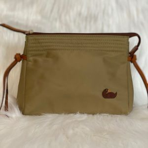NWOT Dooney & Bourke Canvas And Leather Makeup Bag